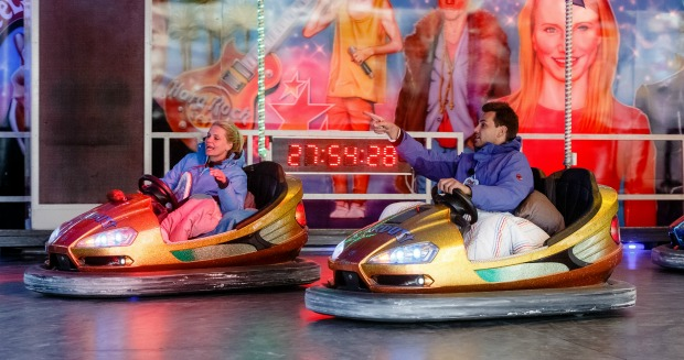 Bumper car marathon in action
