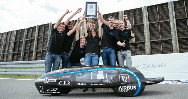 Most efficient electric car in action - certificate presentation