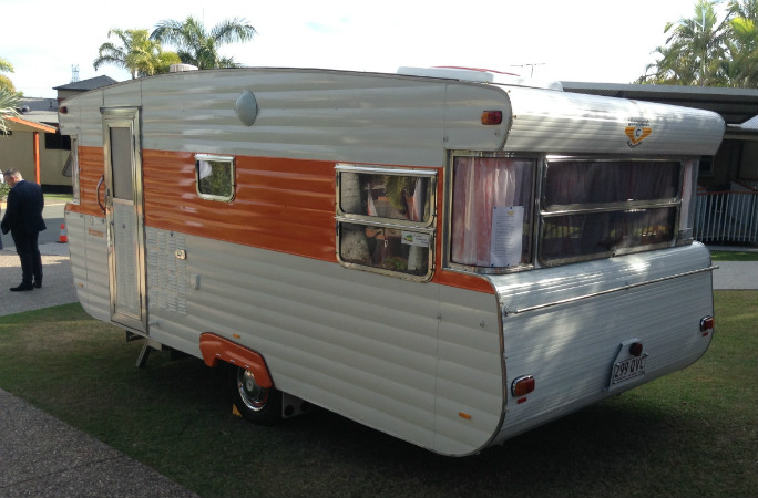 caravan from the outside