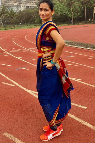 fastest marathon dressed in a sari