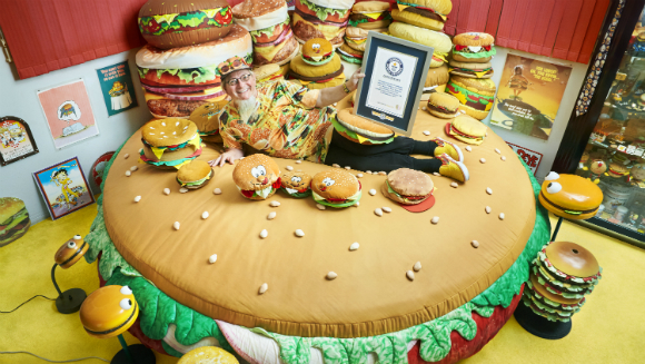 Largest collection of hamburger items 3