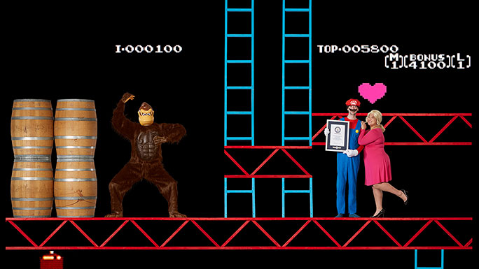 Highest score on Donkey Kong Wes Copeland