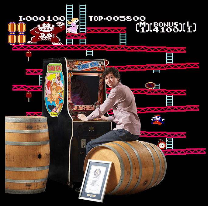 Highest score on Donkey Kong 684