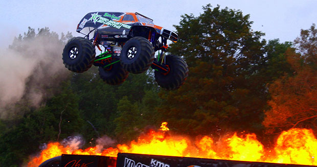 Longest ramp jump in a monster truck