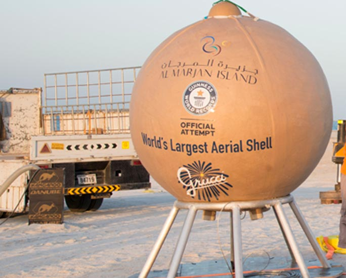 Largest aerial firework shell